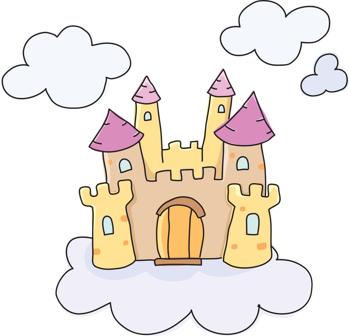 Adesivi murali castello delle fate leostickers for Disegni casa castello